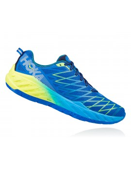 RUNNING SHOES HOKA ONE ONE CLAYTON 2 BLUE AND YELLOW FOR MEN'S