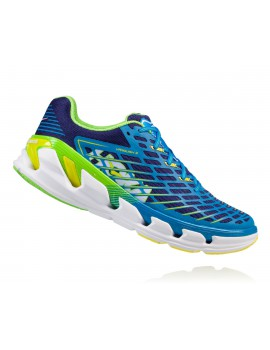 HOKA ONE ONE VANQUISH 3 RUNNING SHOES BLUE AND YELLOW FOR MEN'S