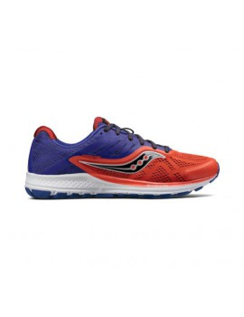 RUNNING SHOES SAUCONY RIDE 10 ORANGE AND PURPLE FOR MEN'S