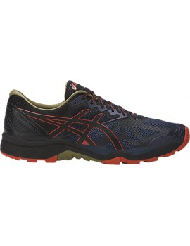 TRAIL RUNNING SHOES ASICS GEL FUJITRABUCO 6 BLUE, BLACK AND RED FOR MEN'S