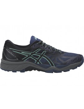 TRAIL RUNNING SHOES ASICS GEL FUJITRABUCO 6 BLUE, BLACK AND GREEN FOR WOMEN'S