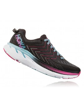 CHAUSSURES DE RUNNING HOKA ONE ONE CLIFTON 4 GRISE, ROSE ET BLANCHE POUR FEMMES