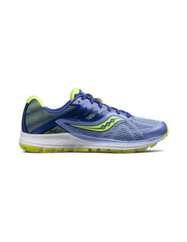 RUNNING SHOES SAUCONY RIDE 10 PURPLE AND YELLOW FOR WOMEN'S