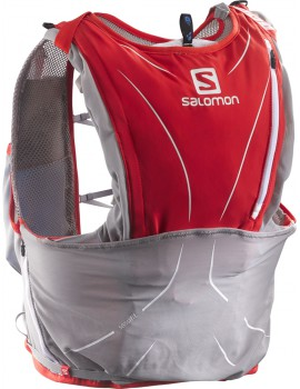 TRAIL RUNNING BACK PACK SALOMON S-LAB ADV SKIN3 12 SET RED AND GREY
