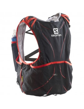SAC A DOS DE TRAIL RUNNING SALOMON S-LAB ADV SKIN 12 SET NOIR ET ROUGE