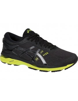 RUNNING SHOES ASICS GEL KAYANO 24 BLACK AND GREEN FOR MEN'S