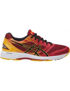 RUNNING SHOES ASICS GEL DS TRAINER 22 RED AND BLACK FOR MEN'S