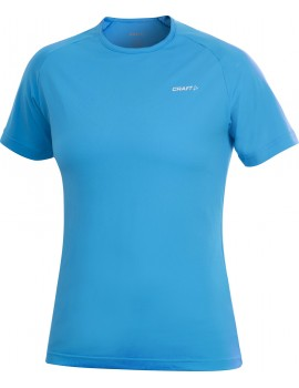 T-SHIRT DE RUNNING CRAFT ACTIVE RUN BLEU POUR FEMMES
