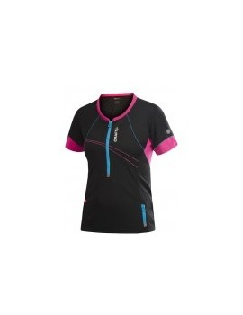 CRAFT PR HYBRID TEE BLACK AND PINK FOR WOMEN'S