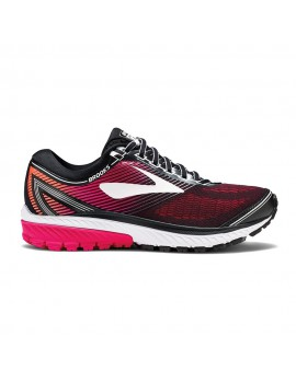 RUNNING SHOES BROOKS GHOST 10 BLACK AND PINK FOR WOMEN'S