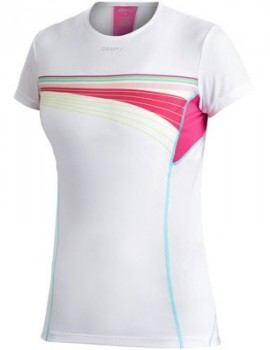 CRAFT PERFORMANCE TEE WHITE AND PINK FOR WOMEN'S