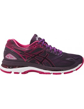 RUNNING SHOES ASICS GEL NIMBUS 19 BLACK AND COSMO PINK FOR WOMEN'S