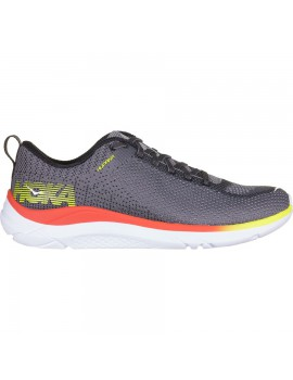 HOKA ONE ONE HUPANA 2 RUNNING SHOES GREY AND ORANGE FOR MEN'S
