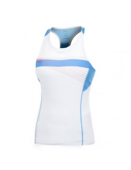 CRAFT COOL SINGLET WHITE AND BLUE FOR WOMEN'S