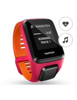 TOMTOM RUNNER 3 CARDIO MUSIC GPS ROSE ET ORANGE