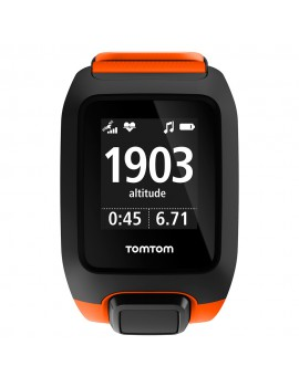 TOMTOM ADVENTURER CARDIO MUSIC ORANGE ET NOIR