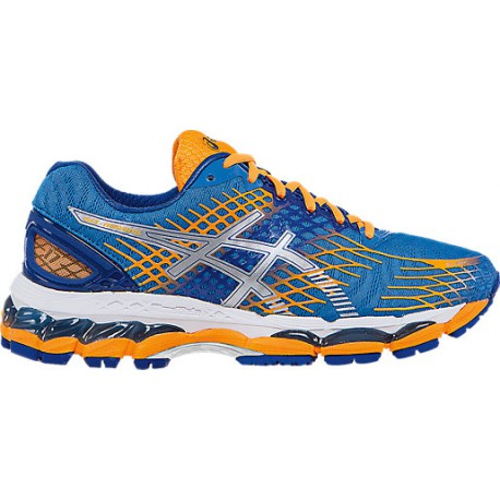 new arrival ee22e 693d4 RUNNING SHOES ASICS GEL NIMBUS 17 BLUE AND ORANGE FOR WOMEN'S - Running  Discount