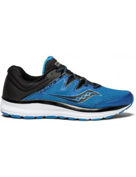 SAUCONY GUIDE ISO RUNNING SHOES BLUE AND BLACK FOR MEN'S