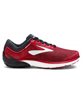 RUNNING SHOES BROOKS PURE CADENCE 7 RED, BLACK AND SILVER FOR MEN'S