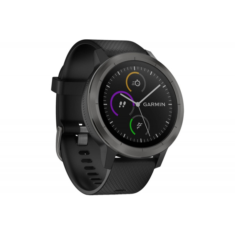 sp cialiste du running trail fitness montre multisports garmin vivoactive 3 grise et noir. Black Bedroom Furniture Sets. Home Design Ideas