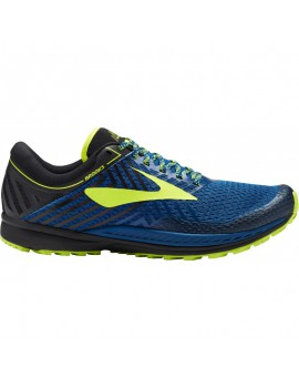 TRAIL RUNNING SHOES BROOKS MAZAMA BLUE, BLACK AND NIGHTLIFE FOR MEN'S