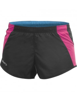 CRAFT PERFORMANCE RUN SHORT BLACK AND PINK FOR WOMEN'S
