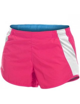 SHORT DE RUNNING CRAFT PERFORMANCE ROSE ET BLANC POUR FEMMES
