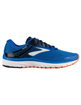RUNNING SHOES BROOKS ADRENALINE GTS 18 BLUE AND ORANGE FOR MEN'S