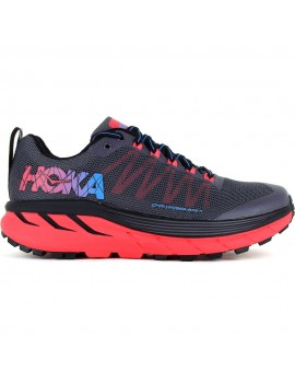 TRAIL RUNNING SHOES HOKA CHALLENGER ATR 4 BLACK AND PINK FOR MEN'S