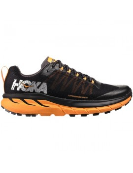 TRAIL RUNNING SHOES HOKA CHALLENGER ATR 4 BLACK AND ORANGE FOR MEN'S