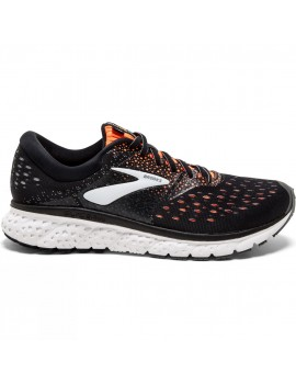 RUNNING SHOES BROOKS GLYCERIN 16 BLACK AND ORANGE FOR MEN'S