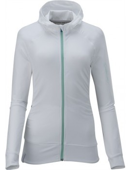 SALOMON WHISPER MIDLAYER HOODY WHITE FOR WOMEN'S