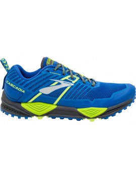 TRAIL RUNNING SHOES BROOKS CASCADIA 13 BLUE AND YELLOW FOR MEN'S