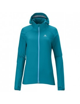 SALOMON FAST WING HOODY JACKET BLUE FOR WOMEN'S