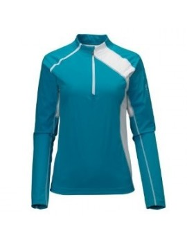 SALOMON XT SOFTSHELL LS 1/2 ZIP TEE MIDLAYER FOR WOMEN'S