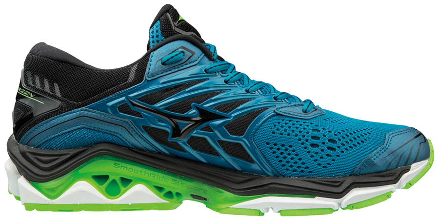 9812a154b22f Trail, firness specialist : RUNNING SHOES MIZUNO WAVE HORIZON 2 BLUE AND  GREEN FOR MEN'S - Running Discount