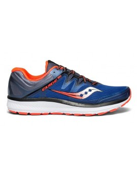SAUCONY GUIDE ISO RUNNING SHOES BLUE AND RED FOR MEN'S