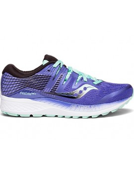 RUNNING SHOES SAUCONY RIDE ISO PURPLE AND BLACK FOR WOMEN'S