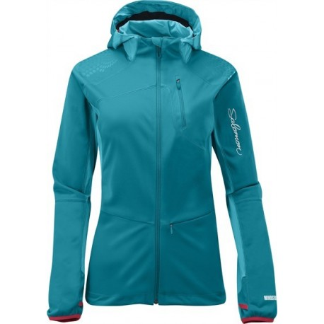 3ef0cb4c9e7bd Trail, firness specialist : SALOMON XA WS SOFTSHELL JACKET BLUE FOR ...