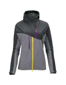 SALOMON MINIM SHELL JACKET GREY AND PURPLE FOR WOMEN'S