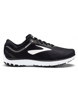 RUNNING SHOES BROOKS PURE FLOW 7 BLACK AND WHITE FOR MEN'S