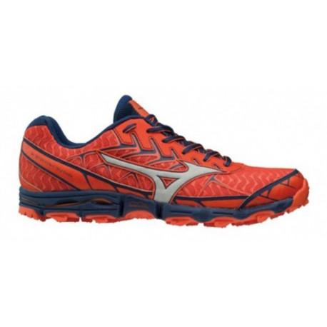 TRAIL RUNNING SHOES MIZUNO WAVE HAYATE 4 ORANGE AND BLUE FOR MEN'S