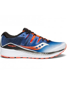 RUNNING SHOES SAUCONY RIDE ISO BLUE AND RED FOR MEN'S