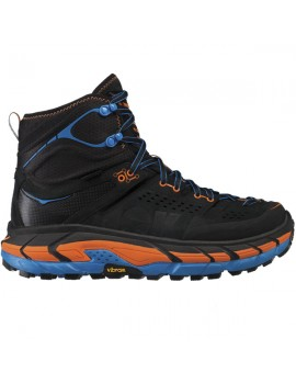 TREKKING SHOES HOKA ONE ONE TOR ULTRA HI WP BLUE AND ORANGE FOR MEN'S