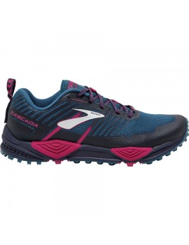 TRAIL RUNNING SHOES BROOKS CASCADIA 13 BLUE AND PINK FOR WOMEN'S