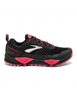 TRAIL RUNNING SHOES BROOKS CASCADIA 13 GTX BLACK AND PINK FOR WOMEN'S