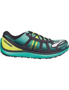 TRAIL RUNNNING SHOES BROOKS PUREGRIT 2 GREEN AND YELLOW FOR WOMEN'S