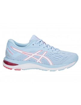RUNNING SHOES ASICS GEL CUMULUS 20 SKYLIGHT AND WHITE FOR WOMEN'S