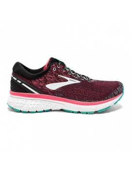 RUNNING SHOES BROOKS GHOST 11 BLACK AND PINK FOR WOMEN'S