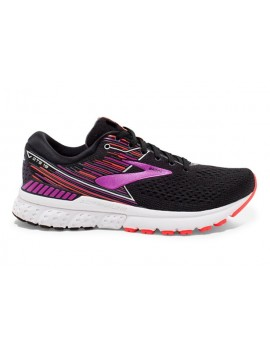 RUNNING SHOES BROOKS ADRENALINE GTS 19 BLACK AND PURPLE FOR WOMEN'S